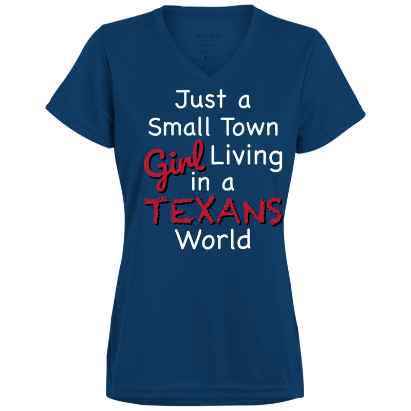 Ladies Small Town Navy Texans Wicking T-Shirt