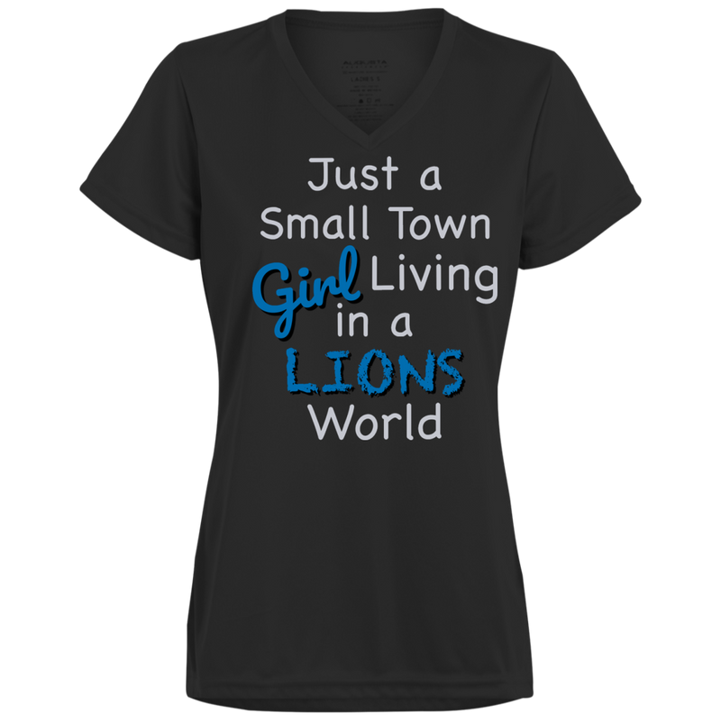 Ladies Small Town Black Lions Wicking T-Shirt