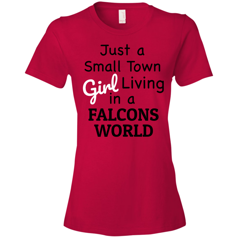 Ladies Red Falcons Small Town T-Shirt