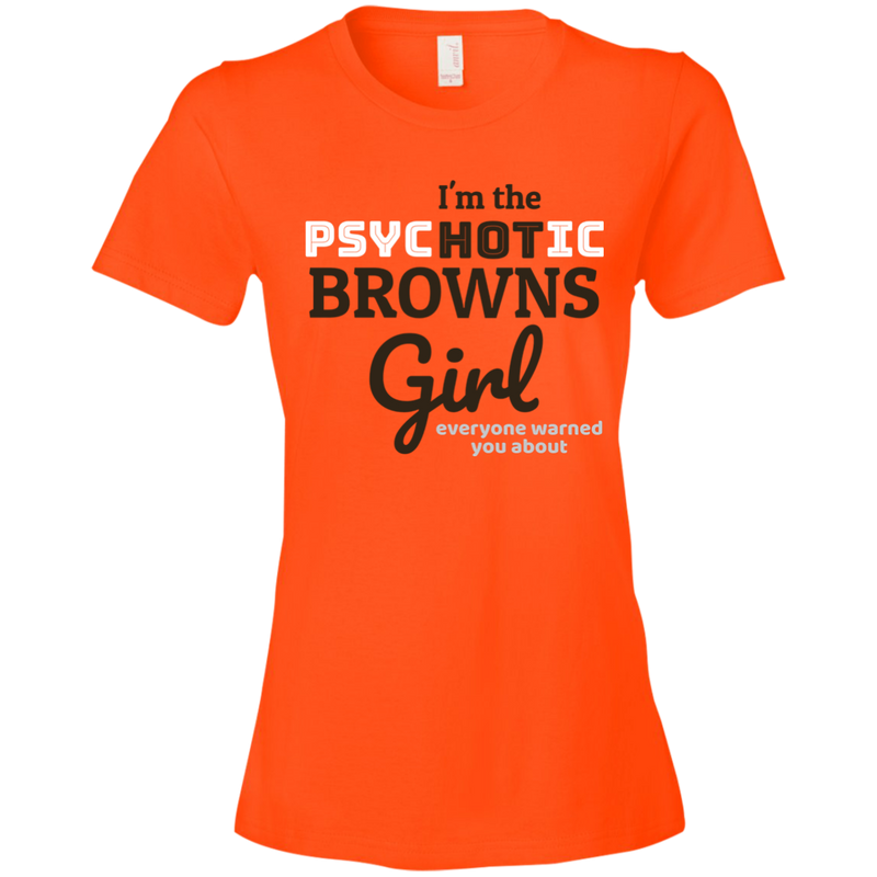 Ladies Browns Orange Psychotic T-Shirt