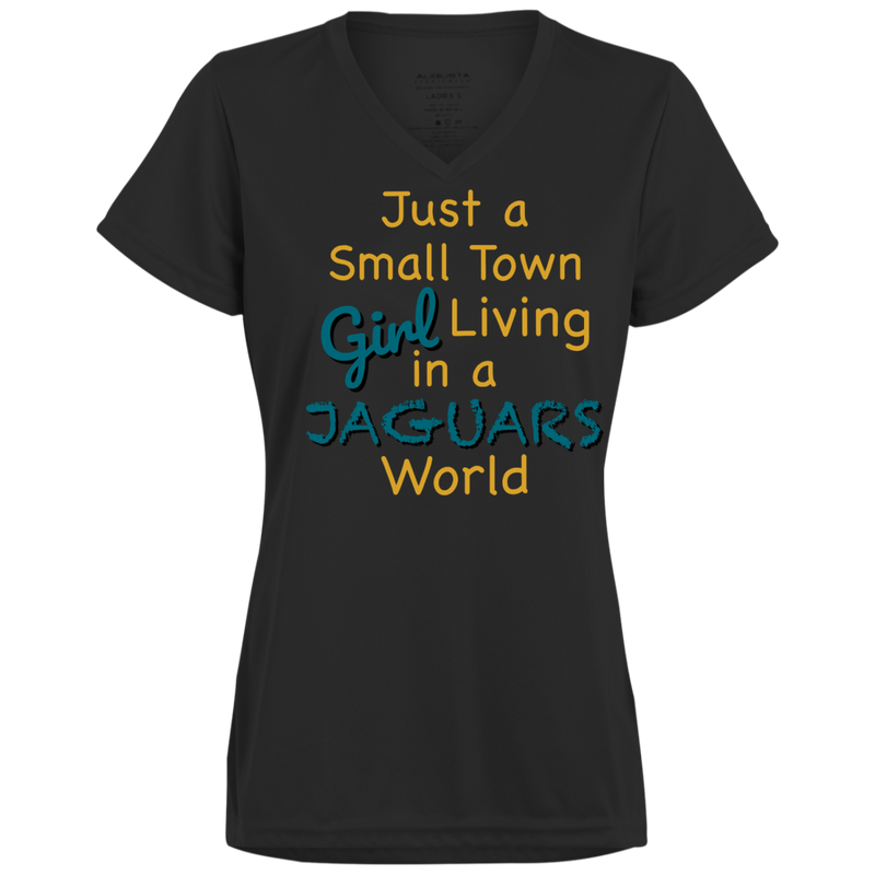 Ladies Small Town Black Jaguars Wicking T-Shirt