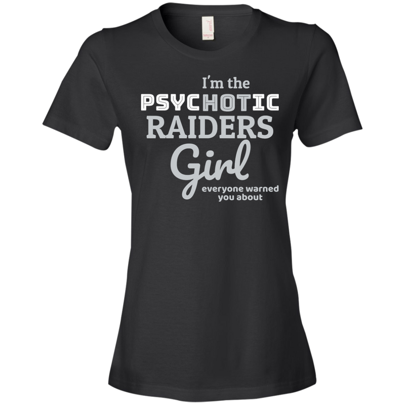 Ladies Psychotic Black Raiders T-Shirt