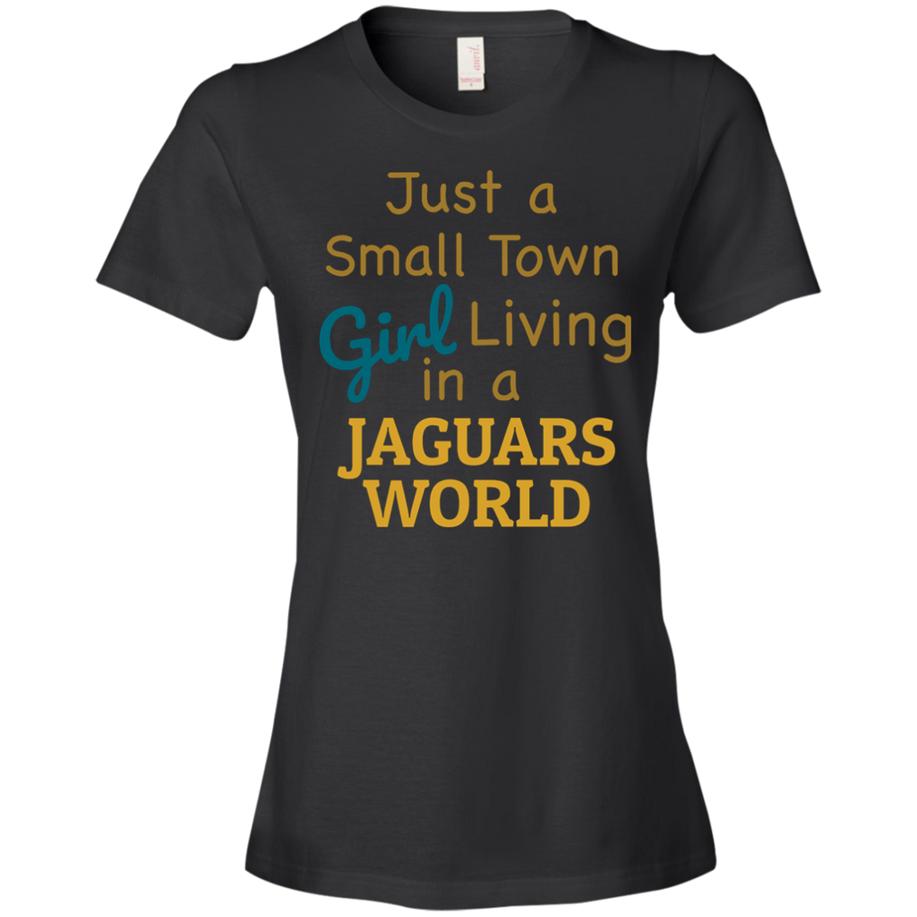 Ladies Small Town Black Jaguars T-Shirt