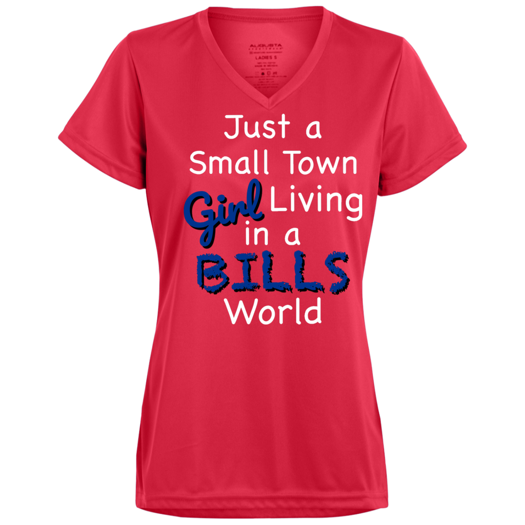 Ladies Small Town Red Bills Wicking T-Shirt