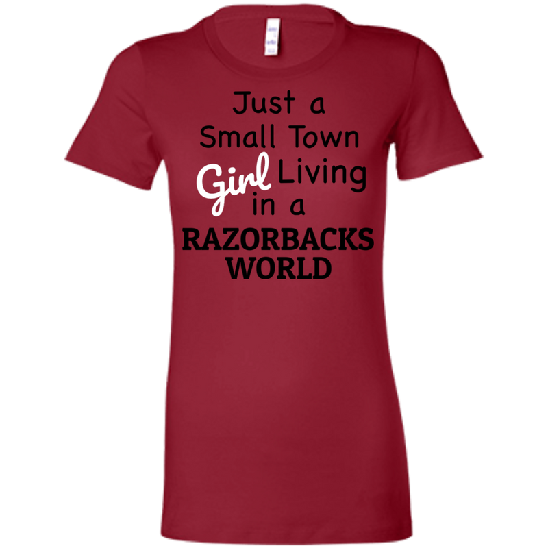 Juniors Small Town Red Razorbacks Favorite T-Shirt