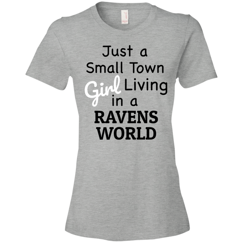 Ladies Gray Ravens Small Town T-Shirt