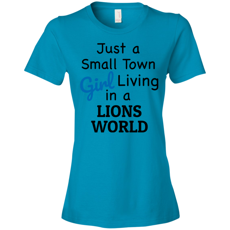 Ladies Blue Lions Small Town T-Shirt