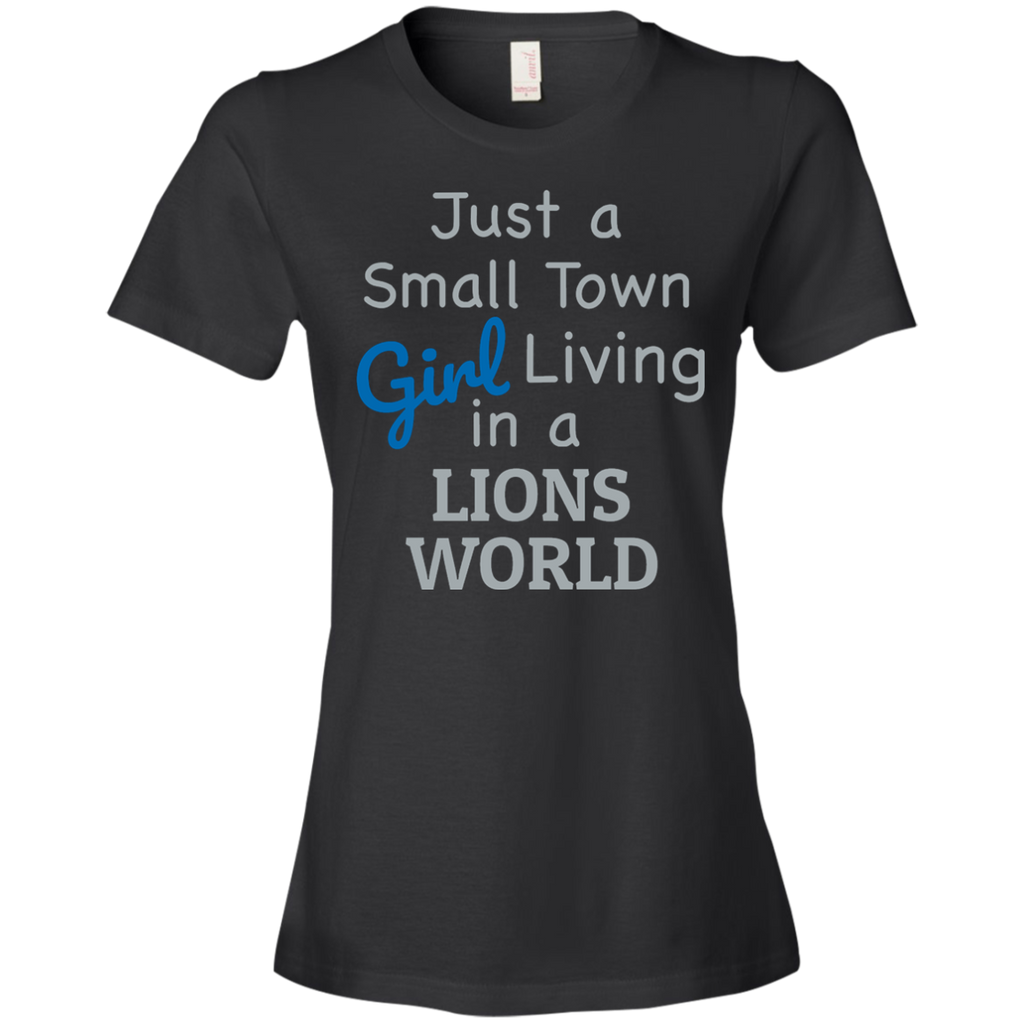 Ladies Black Lions Small Town T-Shirt