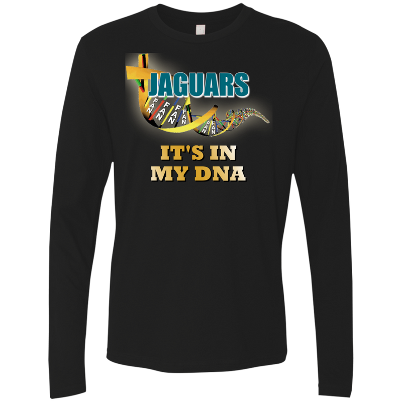Mens Black DNA Jaguars Premium LS T-Shirt