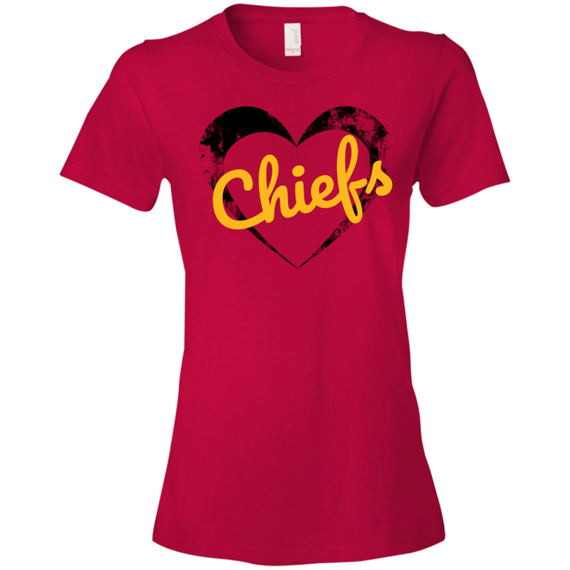 Ladies Red Chiefs Heart T-Shirt