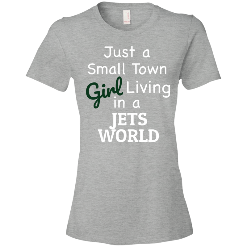 Ladies Gray Jets Small Town T-Shirt
