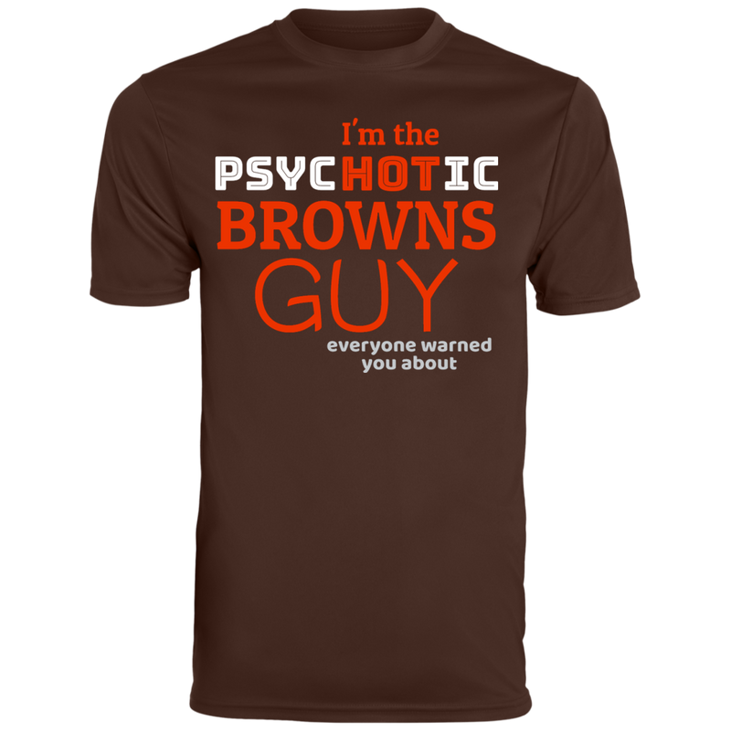 Mens Brown Psychotic Browns Wicking T-Shirt