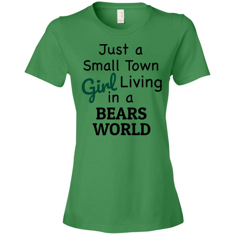 Ladies Small Town Green Bears T-Shirt