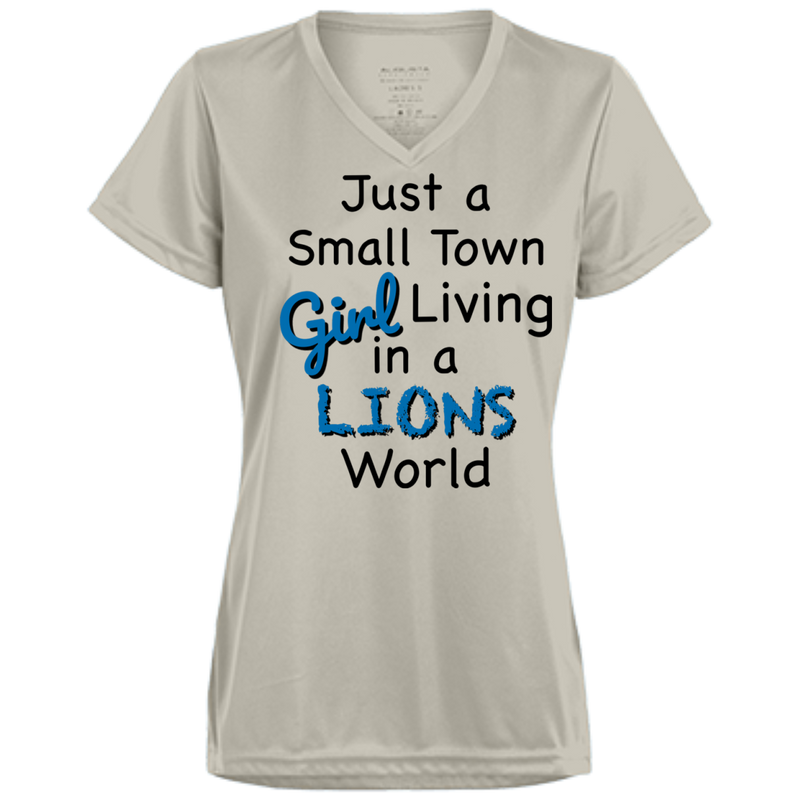 Ladies Small Town Silver Lions Wicking T-Shirt