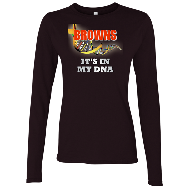 Ladies Brown DNA Browns LS T-Shirt