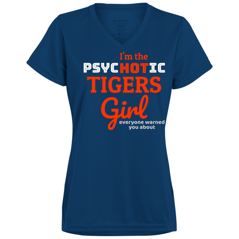 Ladies Psychotic Navy Tigers Wicking T-Shirt