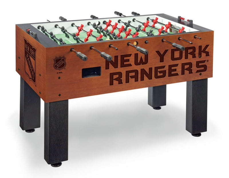New York Rangers NHL Foosball Table - Sports Fans Plus