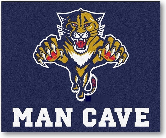 Florida Panthers NHL Man Cave Tailgate Rug - Sports Fans Plus
