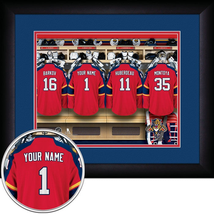 Florida Panthers NHL Personalized Locker Room Print - Sports Fans Plus  - 1