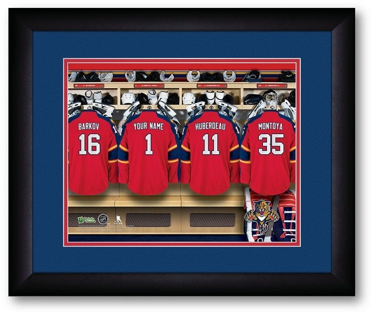Florida Panthers NHL Personalized Locker Room Print - Sports Fans Plus  - 2