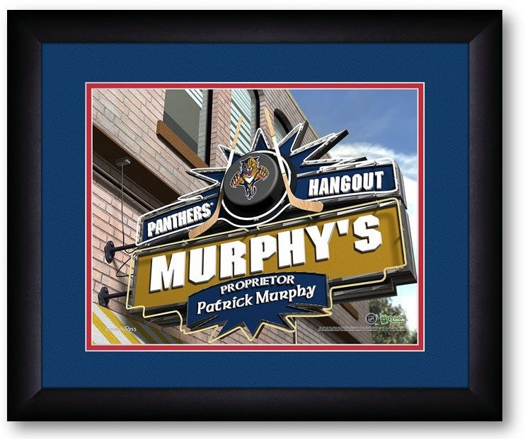 Florida Panthers NHL Personalized Pub Print - Sports Fans Plus  - 2