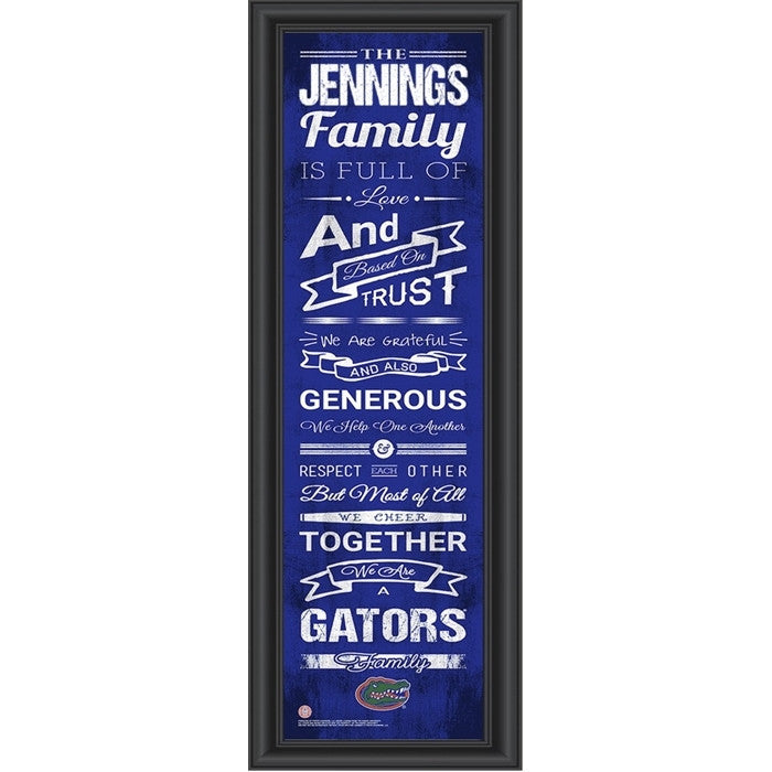 Florida Gators Personalized Family Cheer Print - Sports Fans Plus