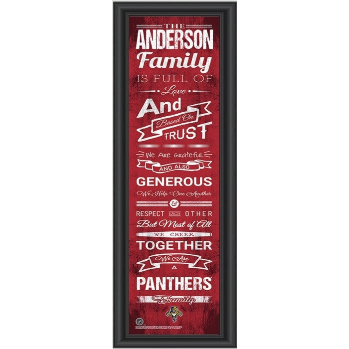Florida Panthers NHL Personalized Family Cheer Print