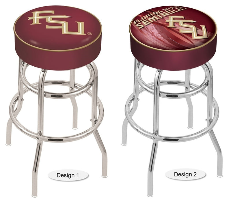Florida State Seminoles FSU Retro Chrome Bar Stool