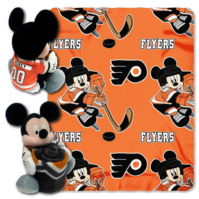 Philadelphia Flyers NHL Mickey Mouse Hugger with Throw - Sports Fans Plus