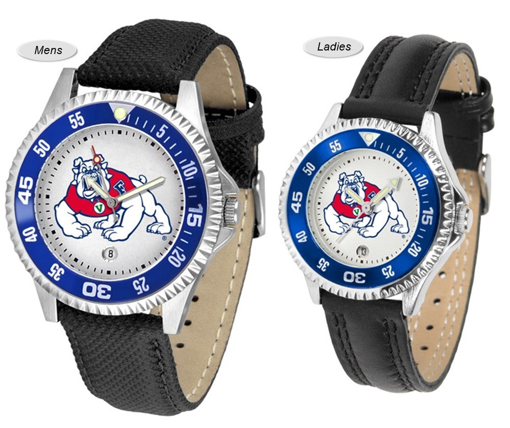 Fresno State Bulldogs Competitor Sport Leather Watch
