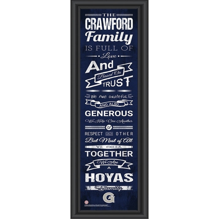 Georgetown Hoyas Personalized Family Cheer Print - Sports Fans Plus