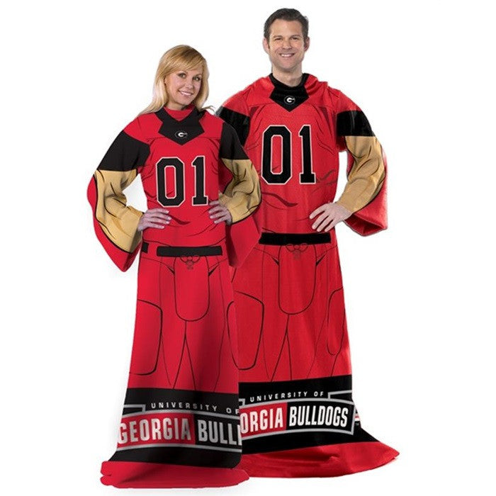 Georgia Bulldogs Unisex Adult Comfy Throw - Sports Fans Plus