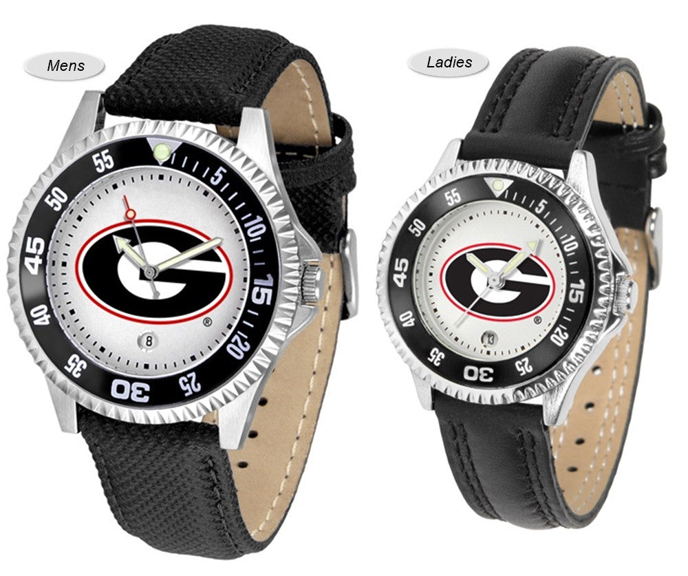 Georgia Bulldogs Competitor Sport Leather Watch