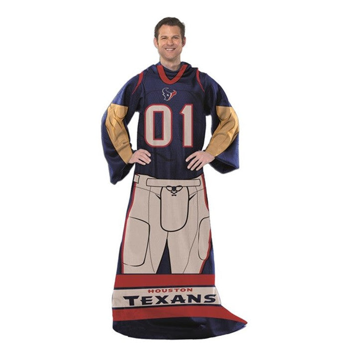 Houston Texans NFL Unisex Adult Comfy Throw - Sports Fans Plus