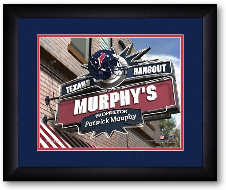 Houston Texans NFL Personalized Pub Print - Sports Fans Plus  - 2