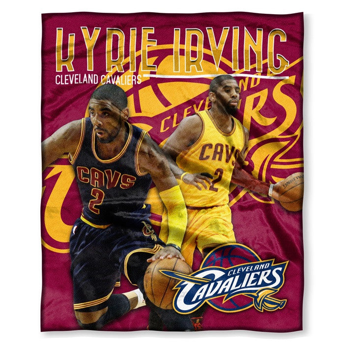 Cleveland Cavaliers Kyrie Irving NBA Players HD Silk Touch Throw