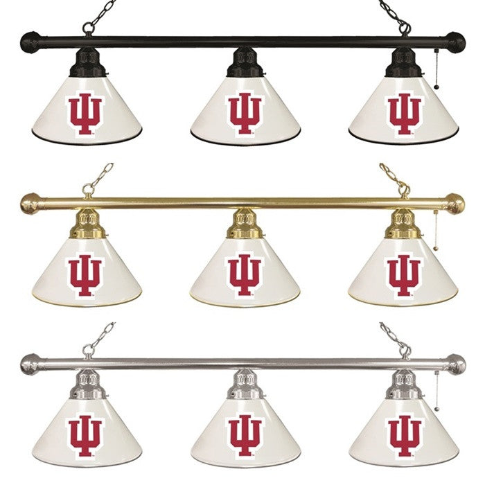 Indiana Hoosiers 3-Shade Billiard Light - Sports Fans Plus - 1