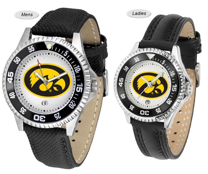 Iowa Hawkeyes Competitor Sport Leather Watch