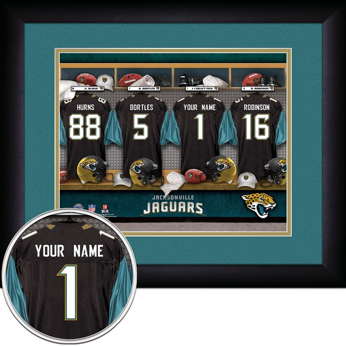 Jacksonville Jaguars NFL Personalized Locker Room Print - Sports Fans Plus  - 1