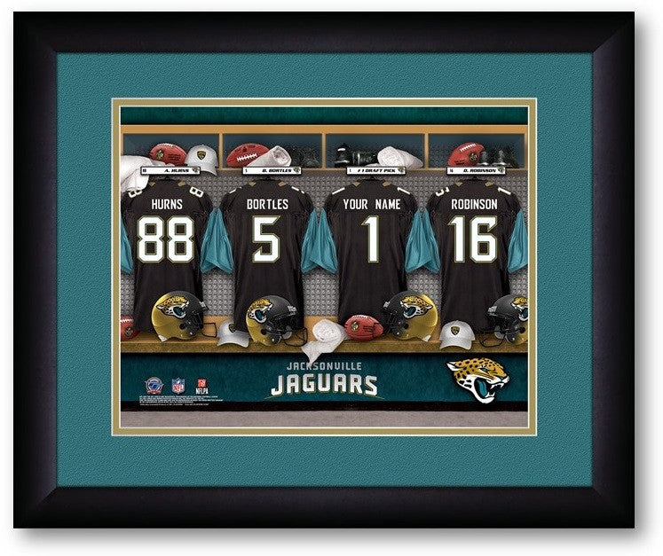 Jacksonville Jaguars NFL Personalized Locker Room Print - Sports Fans Plus  - 2
