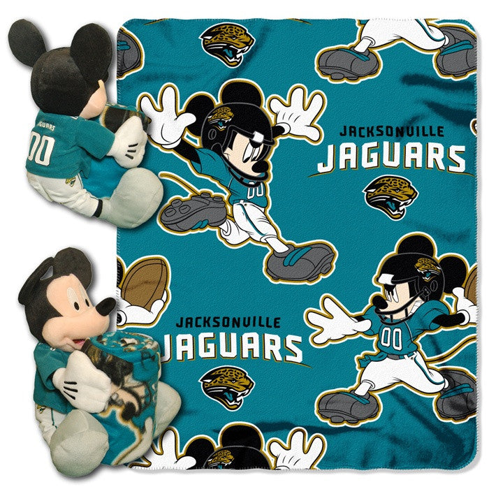 Jacksonville Jaguars NFL Mickey Mouse Hugger with Throw - Sports Fans Plus