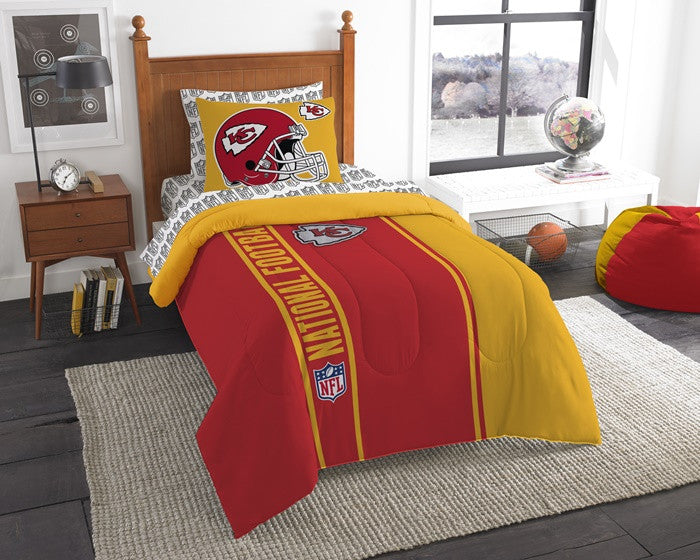 Kansas City Chiefs NFL Twin Bed-in-a-Bag with Sheets