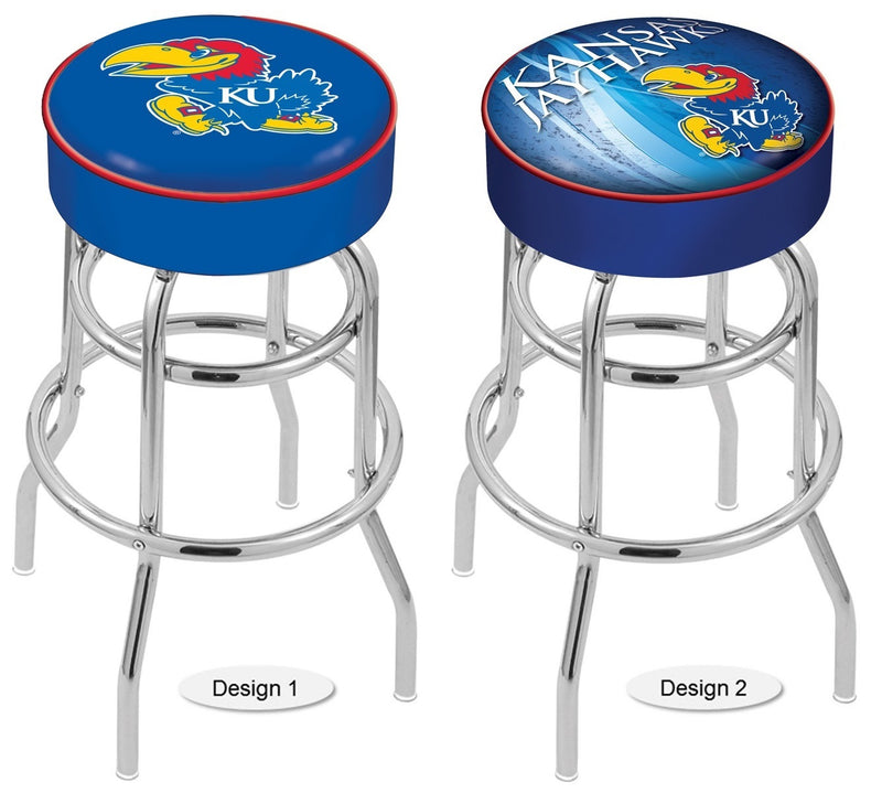 Kansas Jayhawks Retro Chrome Bar Stool