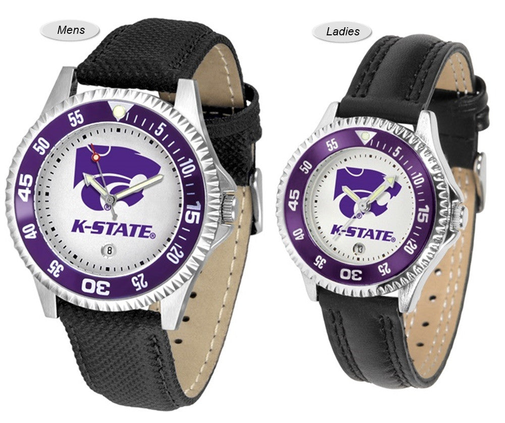 Kansas State Wildcats Competitor Sport Leather Watch