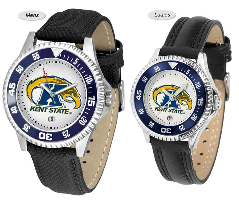 Kent State Golden Flashes Competitor Sport Leather Watch