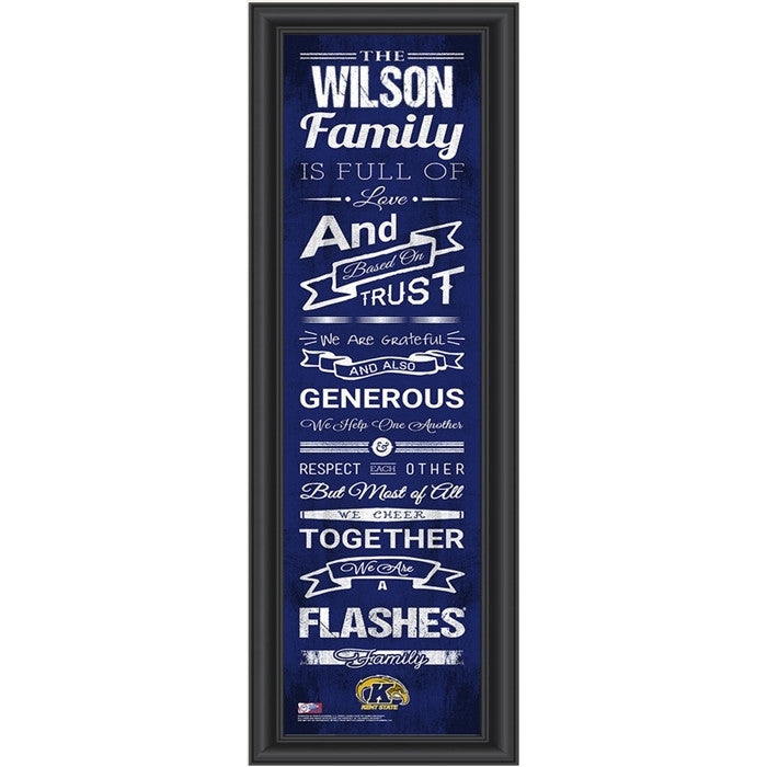 Kent State Golden Flashes Personalized Family Cheer Print