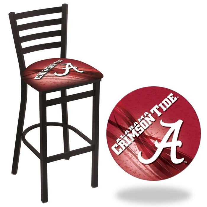 Alabama Crimson Tide A D2 Stationary Ladder Back Bar Stool
