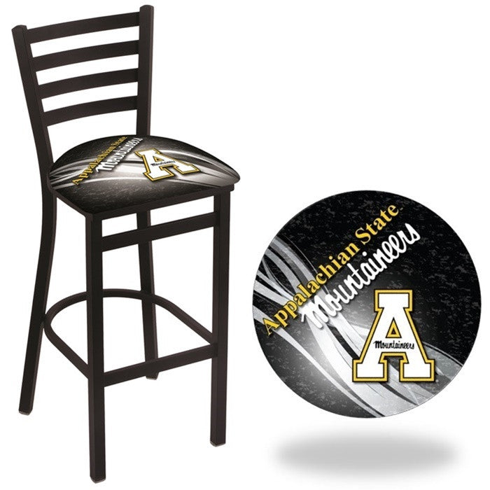 Appalachian State Mountaineers D2 Stationary Ladder Back Bar Stool