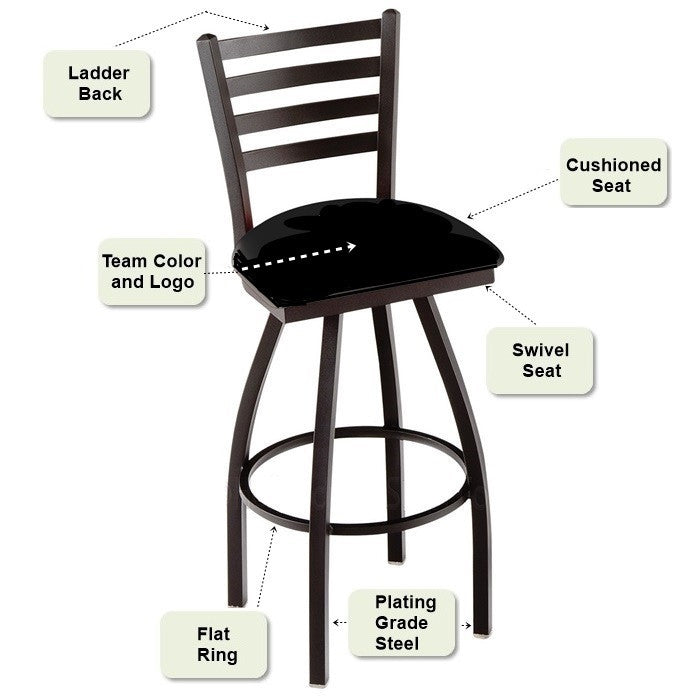 Ladder Back Bar Stool Features