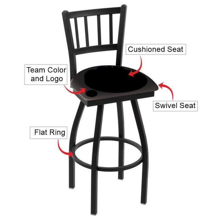 Illinois Fighting Illini Jailhouse Back Bar Stool